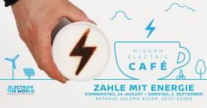 Nissan Electric Café in Essen. Bildquelle: Nissan