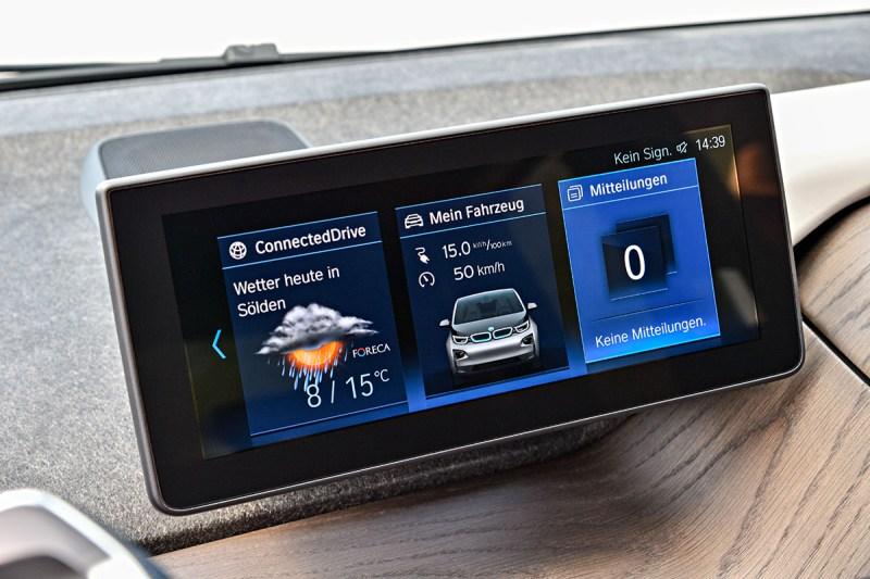 Elektroauto BMW i3 Infotainment-System. Bildquelle: BMW