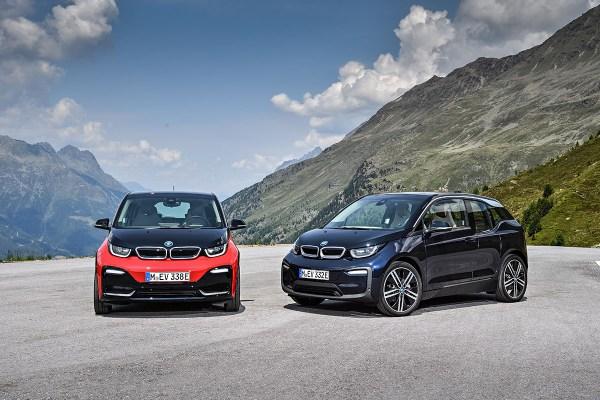Elektroauto BMW i3 (2018) und das Elektroauto BMW i3s (links). Bildquelle: BMW