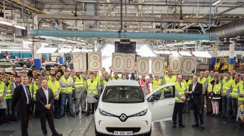 Elektroauto Renault Zoe ist das 18 Millionste produzierte Fahrzeug in Flins. Bildquelle: Renault