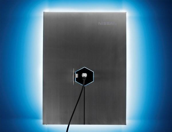 Dies ist das Home Energy System xStorage von Nissan, mit diesen kann man zu Hause Energie speichern. Bildquelle: Nissan