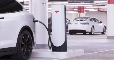 So sieht ein Urban Supercharger von Tesla für Elektroautos aus. Bildquelle: Tesla