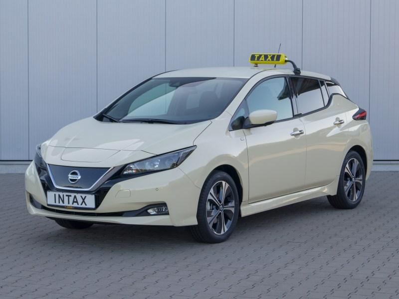 Elektroauto Nissan Leaf Taxi. Bildquelle: Nissan