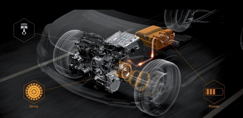 Electric drive Nissan e-Power System. Source: Nissan