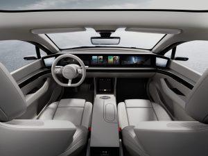 Auf der CES 2020 in Las Vegas stellt Sony sein Elektroauto Vision-S vor. Bildquelle: Sony