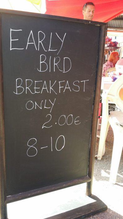 Frühstück 2 Euro