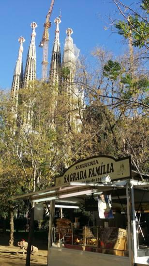 Sagrada Famila vom Park gesehen