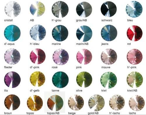 Farbkarte mit Swarovski Elements