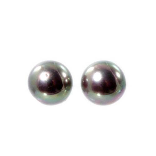 Ohrstecker mit Perlen beige