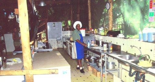 Großküche im Camp