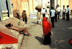 Strassenszene in Bombay