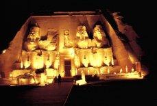 Abu Simpel bei Nacht
