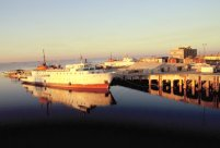 Unser Schiff im Hafen von Assuan