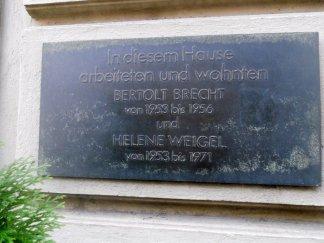 In diesem Haus arbeiteten Bertholt Brecht und Helene Weigel