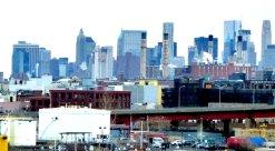Erster Blick auf Manhattan