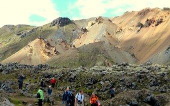 Farbenprächtige Berge in Landmannalaugar - Island