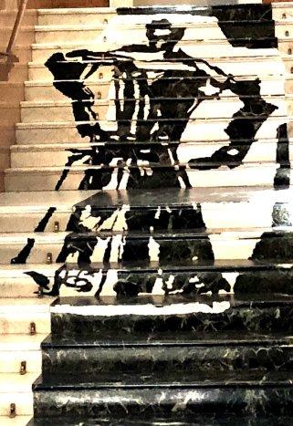 Besetzte Treppe