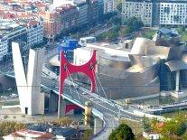 Gesamtblick auf Guggenheim Museum und Umgebung