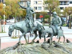 Don Quijote und Sanco Panza am Placa Servantes