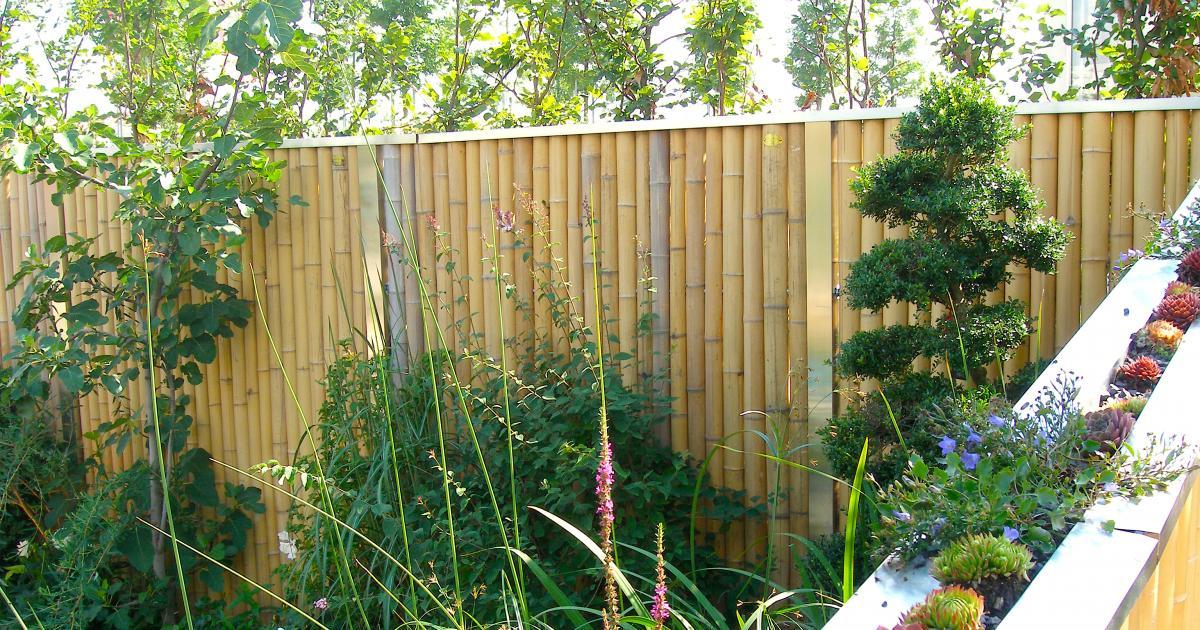 sichtschutz balkon bambus