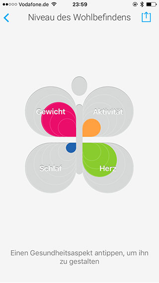 Withings App Kleeblatt