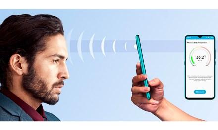 Neues Handy mit eingebautem Fieberthermometer