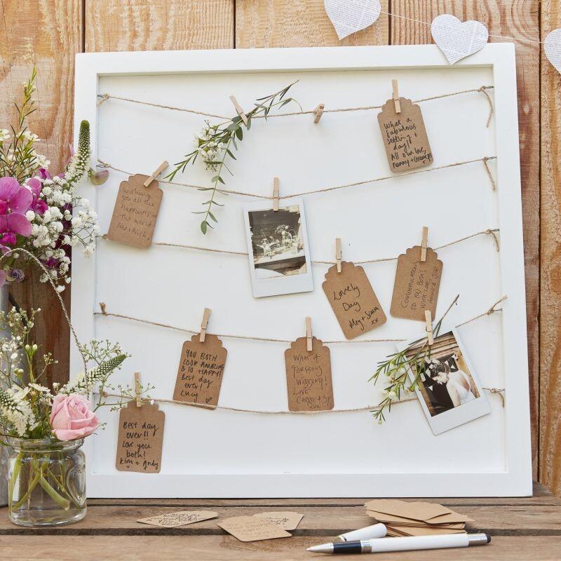 Personalisierter Hochzeitsgastebuch Aus Holz Mit Holzherzen