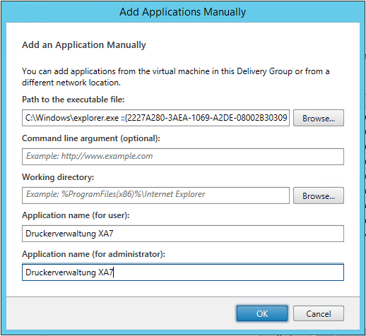 Add Applications manually
