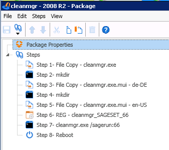 Windows Server 2008 R2 - Update cleanup with cleanmgr exe