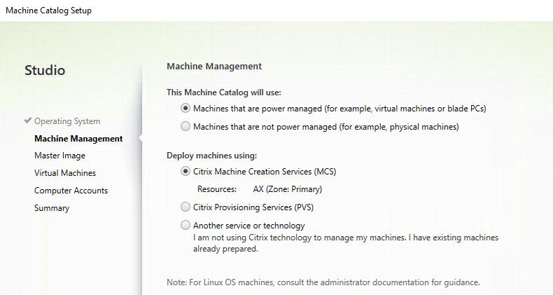 Machine Management - Power managed - Machine Creation Services