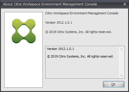 Update Citrix Workspace Environment Management (WEM) to 1912 (1912.1.0.1)