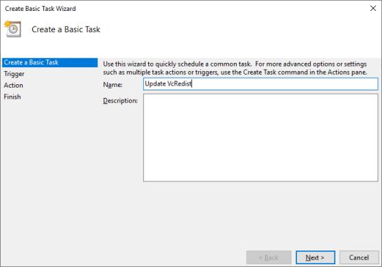 Create Task Scheduler Task