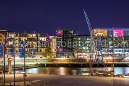 Leinwandbild Hafencity Hamburg Acryl, Alu Dibond