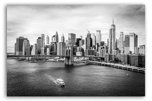 Manhattan New York Bilder auf Leinwand schwarzweiß