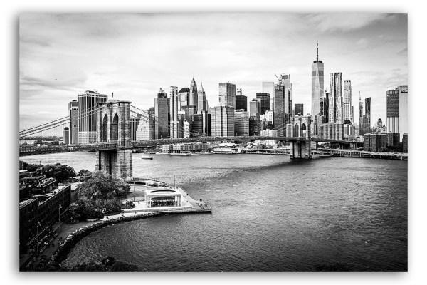 Manhattan Bilder auf Leinwand schwarzweiß