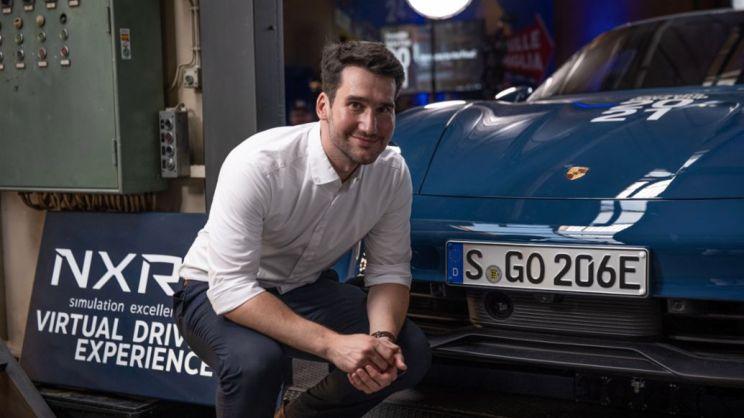 Christoph Acker, Projektleiter Innovation Strategy bei Porsche, Taycan 4S, 2021, Porsche AG