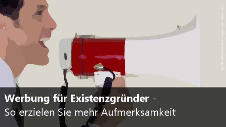 Werbung für Existenzgründer
