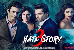 Hate Story 3 Movie Poster Sharman Joshi, Zarine Khan, Karan Singh Grover, Daisy Shah