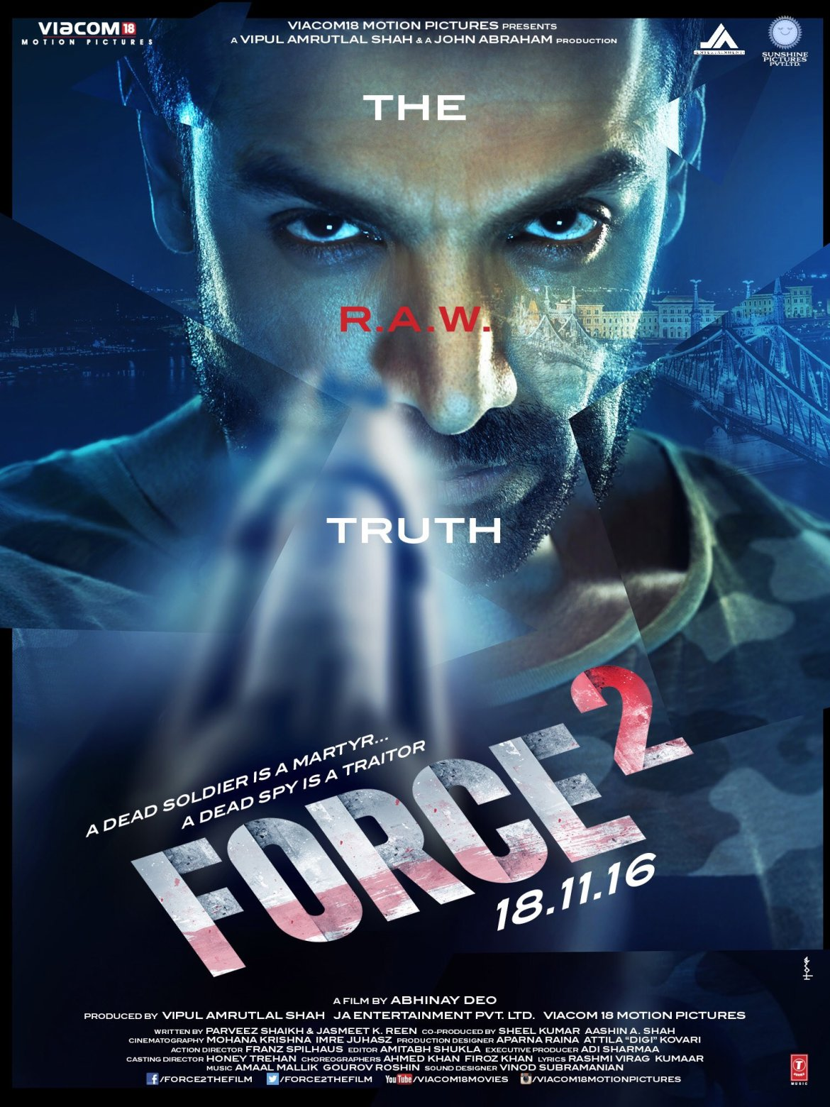 Force 2 First Look Poster Of John Abraham And Sonakshi Sinha