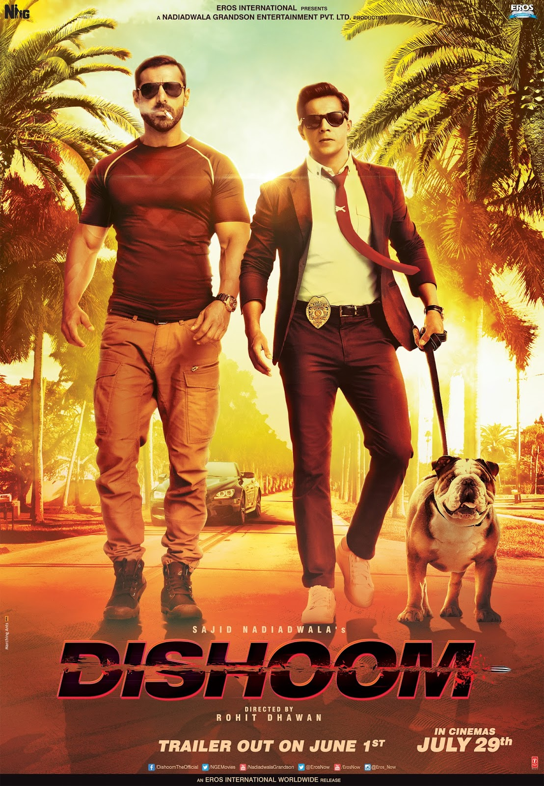 Dishoom Movie Poster John Abraham Varun Dhawan
