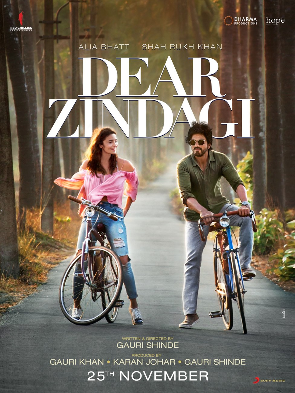 Dear Zindagi Movie Poster Shahrukh Khan Alia Bhatt