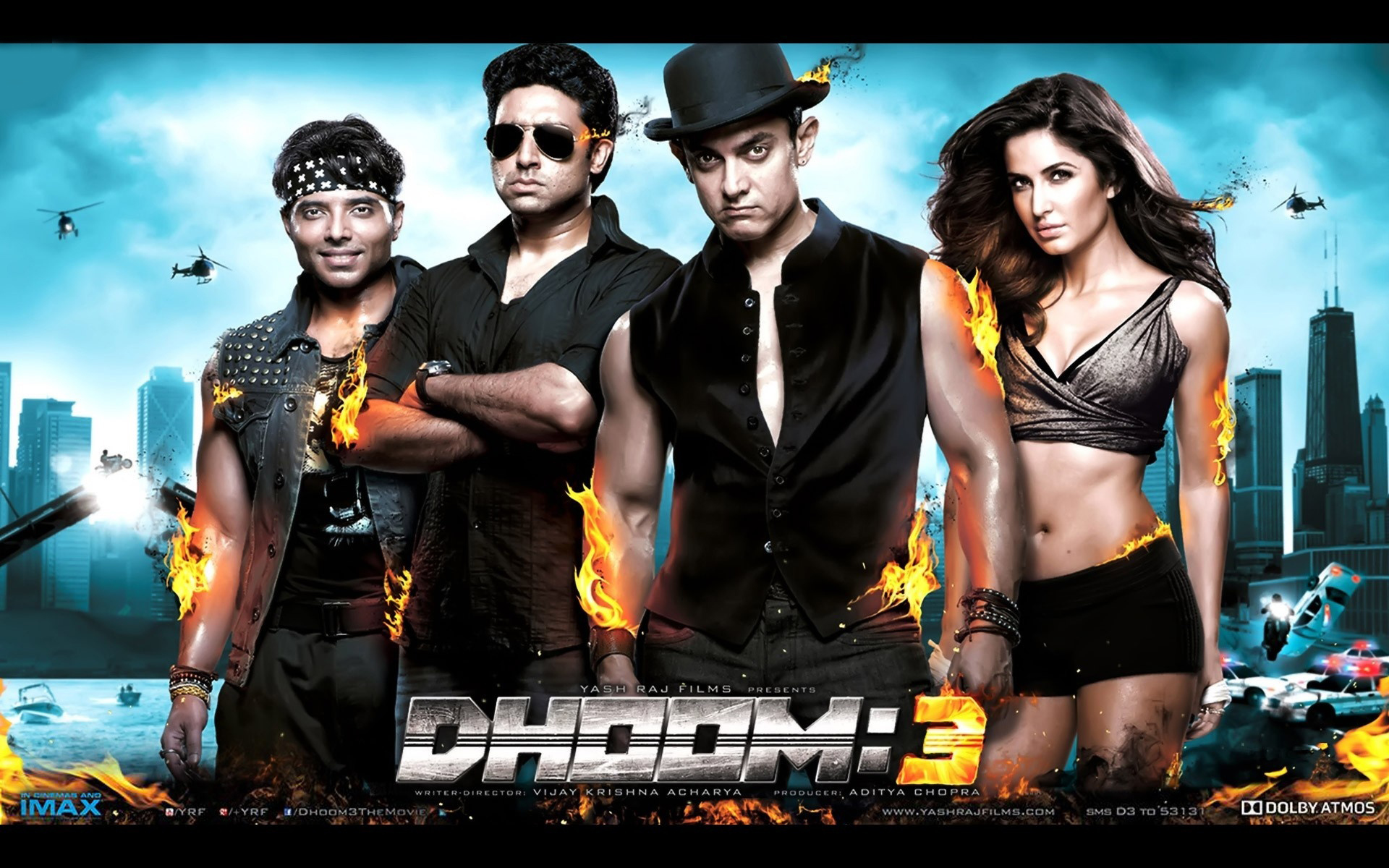Dhoom 3 Movie Poster HD Wallpaper Aamir Khan