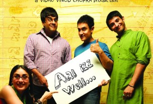 3 Idiots Movie Poster - Aamir Khan, Kareena Kapoor, R Madhavan, Sharman Joshi