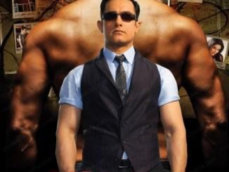 Ghajini Movie Poster - Aamir Khan And Asin