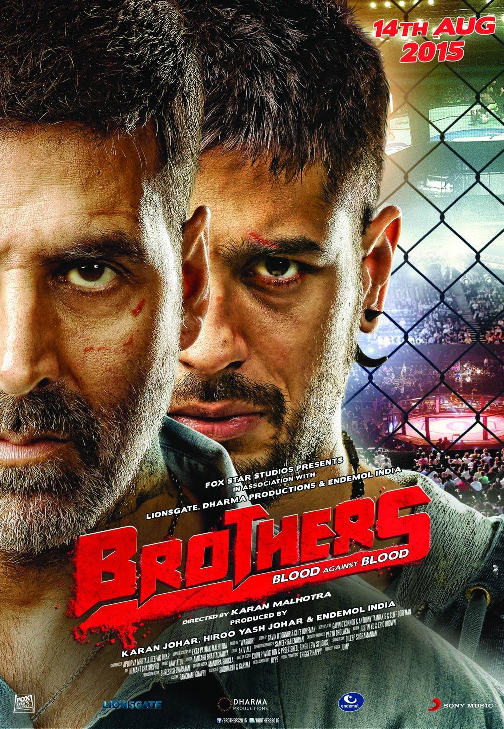 Brothers Movie Poster Ft. Akshay Kumar And Sidharth Malhotra - Full HD Desktop Wallpaper