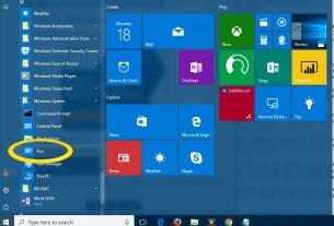 RUN Box In Windows 10