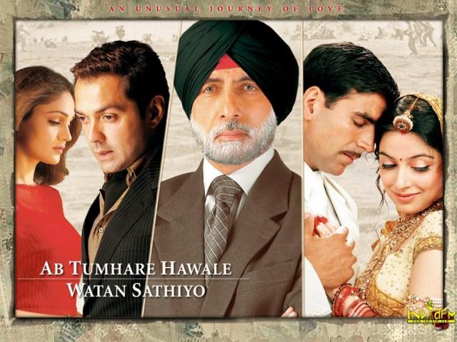 Ab Tumhare Hawale Watan Saathiyo Movie Dialogues Poster HD Wallpaper Akshay Kumar Amitabh Bachchan Bobby Deol