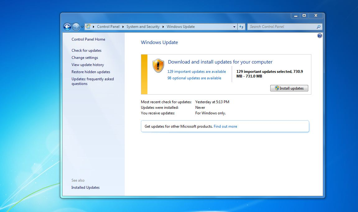 How To Install An Update In Windows 7 - Install Now