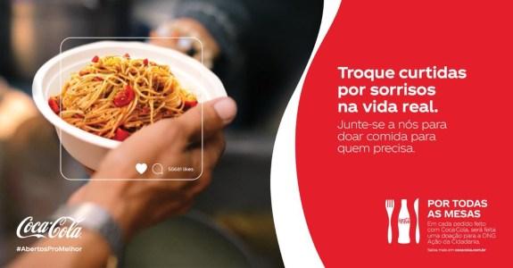 Coca Cola Cria Iniciativa Para Estimular Doacao De Refeicoes Meio Mensagem