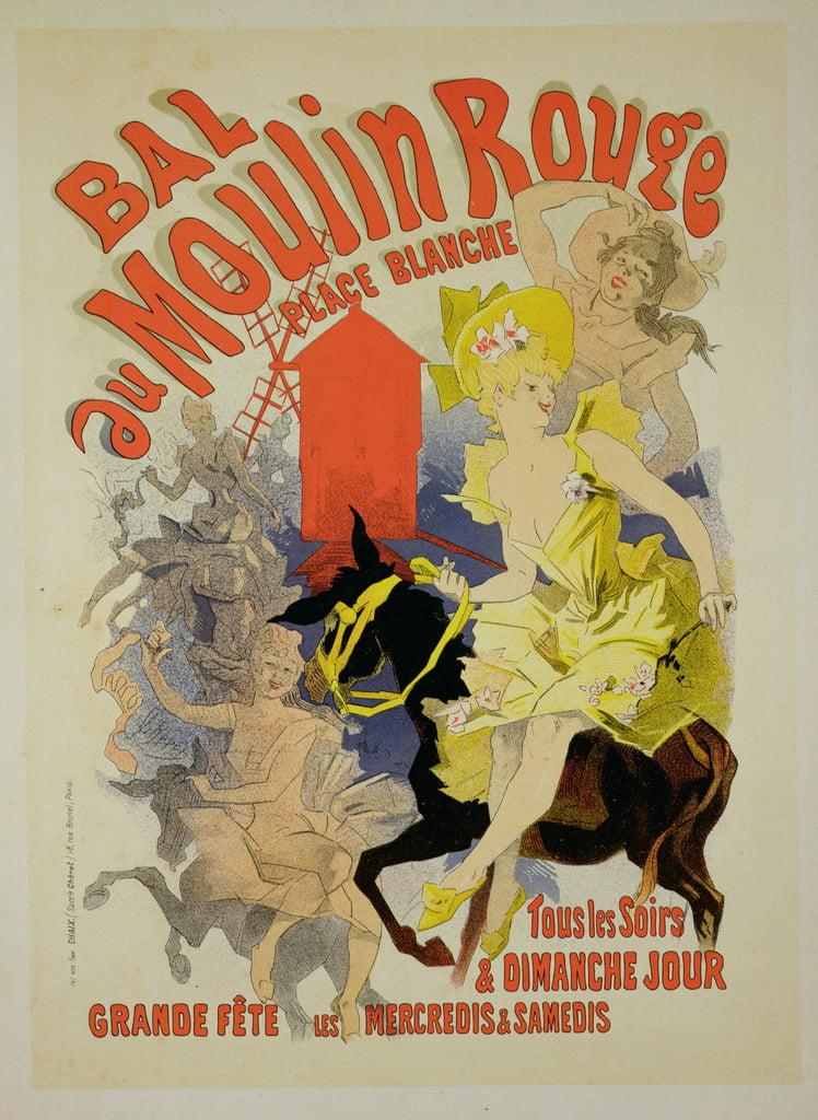 reproduktion eines plakats werbung des bal au moulin rouge 1889